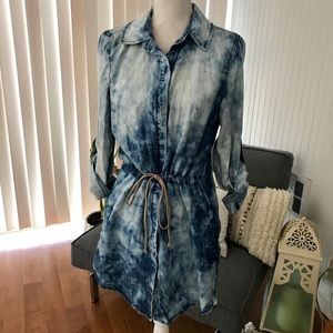 Acid washed Denim dress
